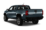 Car pictures of rear three quarter view of 2017 Chevrolet Colorado ZR2 Crew 4 Door Pick Up angular rear