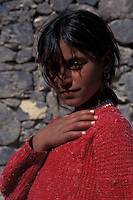 Pinar poses for her portrait outside her Kanikurk village home near Mt. Ararat in Southeast Turkey. (Photo © September 1996 Pico van Houtryve)