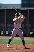 Oakland Athletics Jhonny Rodriguez (15) during an instructional league game against the Los Angeles Angels on October 9, 2015 at the Tempe Diablo Stadium Complex in Tempe, Arizona.  (Mike Janes/Four Seam Images)