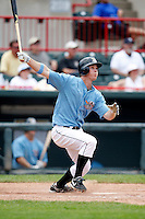 June 25, 2009:  Right Fielder Brennan Boesch of the Erie Seawolves hits a home run to right field during a game at Jerry Uht Park in Erie, PA.  The Erie Seawolves are the Eastern League Double-A affiliate of the Detroit Tigers.  Photo by:  Mike Janes/Four Seam Images