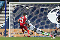 Ashley Fletcher of Middlesbrough scores the second goal for his team from the penalty spot during Millwall vs Middlesbrough, Sky Bet EFL Championship Football at The Den on 8th July 2020