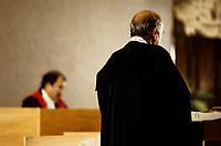 Simulation de proces, annees 90 (date inconnue)<br /> <br /> PHOTO :  Agence Quebec Presse