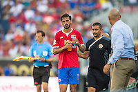 Orlando, Florida - Saturday, June 04, 2016: Costa Rican midfielder Bryan Ruiz (10) gets a drink after being substituted during a Group A Copa America Centenario match between Costa Rica and Paraguay at Camping World Stadium.