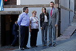 Prince Felipe of Spain (1R) and Princess Letizia (2R) of Spain visit the northern village of Teverga during the celebration of the 2013 Prince of Asturias Awards in Teverga, Spain. Teverga received the honorary mention of Exemplary Village in 2013. October 26, 2013..(ALTERPHOTOS/Victor Blanco)