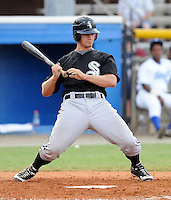 July 22, 2009: Outfielder Brady Shoemaker (13) of the Bristol White Sox, rookie Appalachian League affiliate of the Chicago White Sox, in a game at Burlington Athletic Stadium in Burlington, N.C. Photo by: Tom Priddy/Four Seam Images