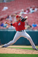 Columbus Clippers pitcher Tyler Sturdevant (40) delivers a pitch during a game against the Buffalo Bisons on July 19, 2015 at Coca-Cola Field in Buffalo, New York.  Buffalo defeated Columbus 4-3 in twelve innings.  (Mike Janes/Four Seam Images)