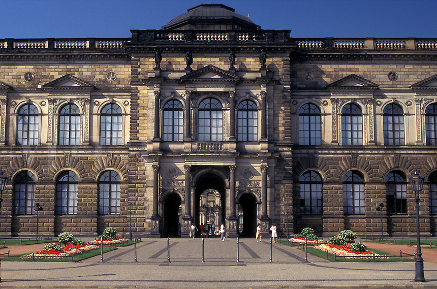 palace, Dresden, Germany, Sachen, Saxony, Europe, The Zwinger a baroque palace built in 1728.