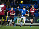St Johnstone v St Mirren….27.03.19   McDiarmid Park   SPFL<br />Murray Davidson battles with Brad Lyons<br />Picture by Graeme Hart. <br />Copyright Perthshire Picture Agency<br />Tel: 01738 623350  Mobile: 07990 594431