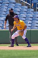 East Carolina Pirates third baseman Zach Agnos (14) during a game against the Memphis Tigers on May 25, 2021 at BayCare Ballpark in Clearwater, Florida.  (Mike Janes/Four Seam Images)