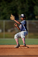 Glenallen Hill Jr during the WWBA World Championship at the Roger Dean Complex on October 21, 2018 in Jupiter, Florida.  Glenallen Hill Jr is a shortstop from Santa Cruz, California who attends Santa Cruz High School and is committed to Arizona State.  (Mike Janes/Four Seam Images)
