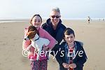 Conor, Lauren and Arthur Heavey enjoying a stroll in Banna on Sunday morning.