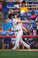 Trenton Thunder second basmean Tony Renda (9) at bat during a game against the Binghamton Mets on August 8, 2015 at NYSEG Stadium in Binghamton, New York.  Trenton defeated Binghamton 4-2.  (Mike Janes/Four Seam Images)
