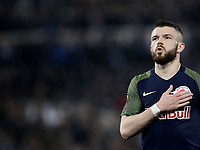 Europa League quarter-final 1st leg <br /> S.S. Lazio - FC Salzburg  Olympic Stadium Rome, April 5, 2018.<br /> Salzburg's Valon Berisha celebrates after scoring during the Europa League match between Lazio and Salzburg at Rome's Olympic stadium, April 5, 2018.<br /> UPDATE IMAGES PRESS/Isabella Bonotto