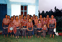 The women of Conavigua visited by the Women's Convoy to Central America Solola Guatemala July 1989