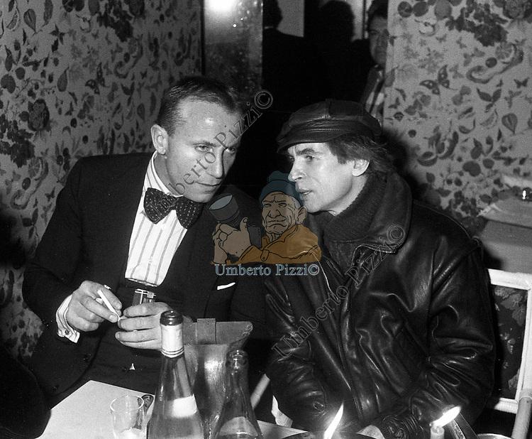 MARCO COBI CON RUDOLF NUREYEV<br /> BELLA BLU ROMA 1985