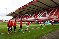 10th October 2020; The County Ground, Swindon, Wiltshire, England; English Football League One; Swindon Town players warming up