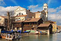 Fondamente Nani - Gondola Building boat yard - Venice Italy