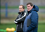 St Johnstone Training…27.09.19<br />Manager Tommy Wright pictured with Alec Cleland during training this morning at McDiarmid Park ahead of tomorrow's game against Motherwell.<br />Picture by Graeme Hart.<br />Copyright Perthshire Picture Agency<br />Tel: 01738 623350  Mobile: 07990 594431