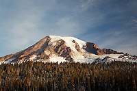 Mount Rainier, near Reflection Lakes, Mount Rainier National Park, Washington, USA