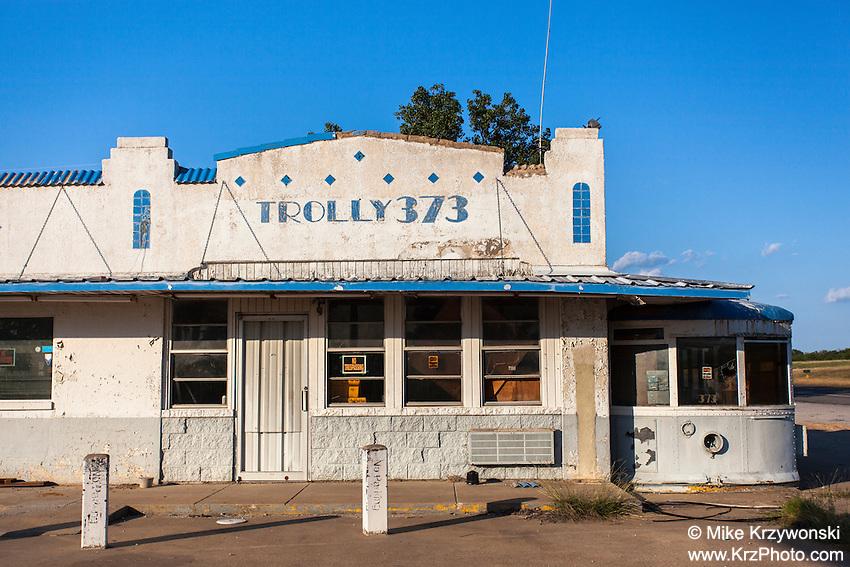 "Abandoned ""Trolly 373"" diner near Gordon, TX"
