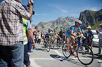 Vincenzo Nibali (ITA/Astana), Nairo Quintana (COL/Movistar), Alejandro Valverde (ESP/Movistar), Alberto Contador (ESP/Tinkoff-Saxo) & Tejay Van Garderen (USA/BMC) over the top of the Col du Tourmalet (HC/2115m/17km/7.3%) together<br /> <br /> st11: Pau - Cauterets (188km)<br /> 2015 Tour de France
