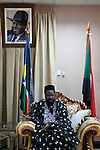 Portrait of Salva Kiir Mayardit, the President of the Republic of South Sudan.