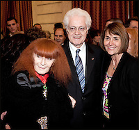 SONIA RYKIEL, LIONEL JOSPIN & CHRISTINE ALBANEL. NICOLAS SARKOZY dÈcore JEAN LOUIS SCHERRER & SONIA RYKIEL.