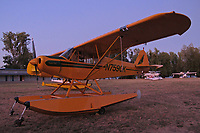 Super Cub N7590K parked at the Natural High School during the Clear Lake Seaplane Splash-In, Lakeport, Lake County, California