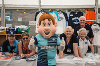 Bodger poses with Wycombe volunteers during the Wycombe Wanderers 2016/17 Kit launch to the Public at Adams Park, High Wycombe, England on 10 July 2016. Photo by Andy Rowland.