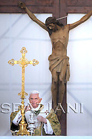 Pope Benedict XVI during an open-air Mass in the southeastern Italian port city  of  Brindisi,..June 15, 2008. ..