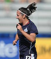 Washington Freedom forward Lisa De Vanna celebrates her goal.  Washington Freedom defeated FC Gold Pride 3-1at the Maryland SoccerPlex, Sunday May 31, 2009.