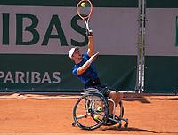 Paris, France, 7 june 2021, Tennis, French Open, Roland Garros, Quad  Wheelchair mens singles final:  Sam Schroder (NED) <br /> Photo: tennisimages.com