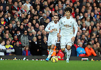 Sunday 07 December 2014<br /> Pictured: Ki Sung Yueng of Swansea<br /> Re: Premier League West Ham United v Swansea City FC at Boleyn Ground, London, UK.