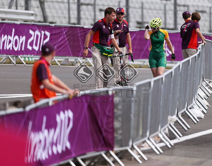 Jayme Paris (AUS), Women's Individual C 1-3 Road Racel.<br /> Cycling Road, Brands Hatch (Wednesday 5th Sept)<br /> Paralympics - Summer / London 2012<br /> London England 29 Aug - 9 Sept <br /> © Sport the library/Joseph Johnson