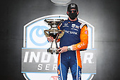 #9: Scott Dixon, Chip Ganassi Racing Honda, celebrates in victory lane