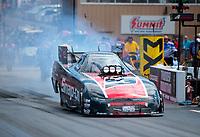 Jul 21, 2019; Morrison, CO, USA; NHRA funny car driver Cruz Pedregon during the Mile High Nationals at Bandimere Speedway. Mandatory Credit: Mark J. Rebilas-USA TODAY Sports