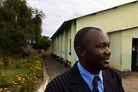 Pastor Noah at his church..