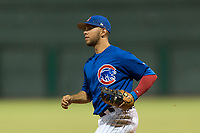 AZL Cubs 1 first baseman Franklin Tineo (11) during an Arizona League game against the AZL Padres 1 at Sloan Park on July 5, 2018 in Mesa, Arizona. The AZL Cubs 1 defeated the AZL Padres 1 3-1. (Zachary Lucy/Four Seam Images)