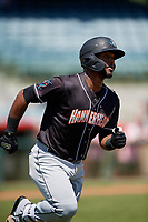 Jupiter Hammerheads Isael Soto (15) during a Florida State League game against the Florida Fire Frogs on April 11, 2019 at Osceola County Stadium in Kissimmee, Florida.  Jupiter defeated Florida 2-0.  (Mike Janes/Four Seam Images)