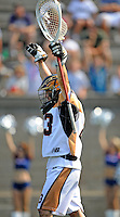 24 August 2008: Rochester Rattlers' Goalkeeper Brett Queener celebrates the win over the Denver Outlaws at the Championship Game of the Major League Lacrosse Championship Weekend at Harvard Stadium in Boston, MA. The Rattles took control of the second half and outscored the Outlaws 16-6 to take the league honor for the 2008 season...Mandatory Photo Credit: Ed Wolfstein Photo