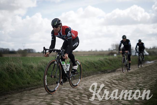 Edvald Boasson Hagen (Nor/DimensionData)<br /> <br /> recon of the 114th Paris - Roubaix