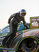 NHRA Mello Yello Drag Racing Series<br /> Route 66 NHRA Nationals<br /> Route 66 Raceway, Joliet, IL USA<br /> Saturday 8 July 2017 Alexis DeJoria, Patron, funny car, Toyota, Camry<br /> <br /> World Copyright: Mark Rebilas<br /> Rebilas Photo