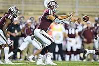 Texas A&M quarterback Kenny Hill (7) during first half of an NCAA football game, Saturday, October 11, 2014 in College Station, Tex. Ole Miss leads Texas A&M 21-0 at the halftime. (Mo Khursheed/TFV Media via AP Images)