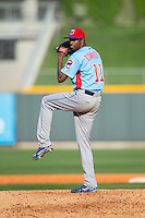 Tennessee Smokies relief pitcher Carl Edwards Jr. (11) in action against the Birmingham Barons at Regions Field on May 3, 2015 in Birmingham, Alabama.  The Smokies defeated the Barons 3-0.  (Brian Westerholt/Four Seam Images)