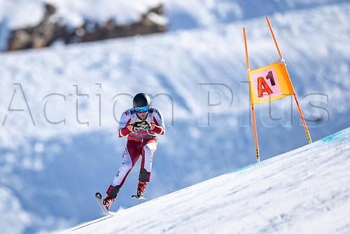 11th November 2020; Obergurgl, Austria; Niklas Koeck of Austria during a free downhill training for the mens OeSV team in Obergurgl, Austria