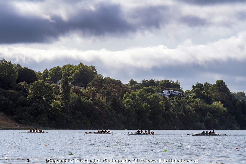 KRI Cambridge Town Cup & Nth Island Club Rowing Champs at Lake Karapiro in Camridge, New Zealand on Sunday, 26 January 2020. Photo: Dave Lintott / lintottphoto.co.nz