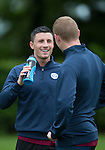 St Johnstone FC Training...<br /> Michael O'Halloran talks with Brian Easton<br /> Picture by Graeme Hart.<br /> Copyright Perthshire Picture Agency<br /> Tel: 01738 623350  Mobile: 07990 594431