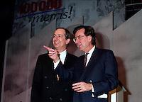Montreal (Qc) Canada  file Photo - april 13 1994 - Quebec Liberal Party convention,  Daniel Johnson (L) Robert Bourassa (R)