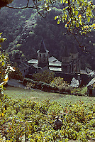 Europe/France/Auvergne/12/Aveyron/Conques : L'abbatiale Sainte-Foy (XIème)<br /> PHOTO D'ARCHIVES // ARCHIVAL IMAGES<br /> FRANCE 1980