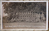 BNPS.co.uk (01202 558833)<br /> Pic: PhilYeomans/BNPS<br /> <br /> Pte Ambrose Regiment in 1915.<br /> <br /> Discovered in a loft - Poingnant reminder of families tragic loss during the Great War.<br /> <br /> A moving time capsule containing the last belongings of a dead soldier his family couldn't bring themselves to look at has been found in an attic after 98 years.<br /> <br /> The possessions of Private Edward Ambrose were sent home from the Western Front to his devastated parents after he was killed at the Somme.<br /> <br /> Too painful to look at, the poignant items were shut into a leather case and put into storage where they remained for almost a century.<br /> <br /> The case has now been opened by Pvt Ambrose's 82-year-old nephew who recovered it after reading about an appeal for untold stories for a local First World War exhibition.<br /> <br /> The effects include black and white photos of his loved ones, letters from his parents, his half-smoked pipe and a cigarette case with 10 roll-ups.